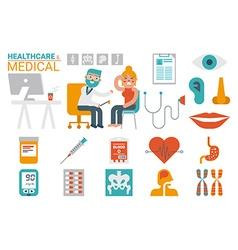 Healthcare and medical infographic vector