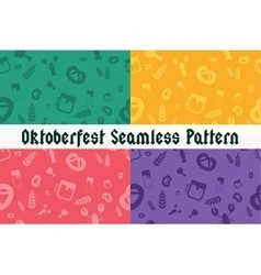 Holiday Oktoberfest Seamless Pattern vector image vector image