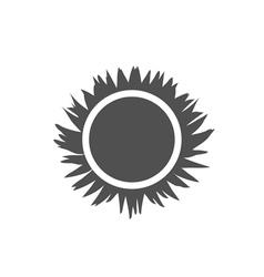 Icon sun solar beams vector