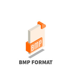 image file format bmp icon symbol vector image