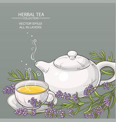 lavender tea background vector image