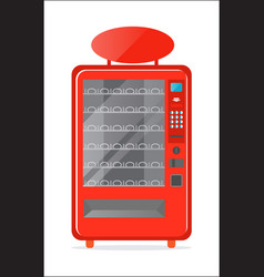 Modern vending machine icon vector
