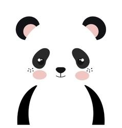 panda bear cartoon vector image