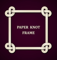 Paper knot frame background vector