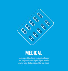 Pharmacy pills medical health care vector