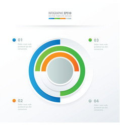 pie chart infographics blue green orange gray vector image