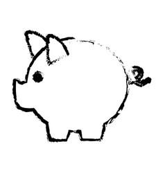 Piggy bank safe money deposit concept vector