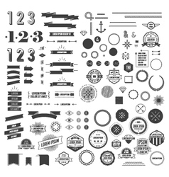 Set of Hipster elements vector image vector image