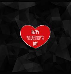 valentines day heart on low poly background vector image vector image