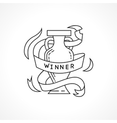 Winner world cup vector image
