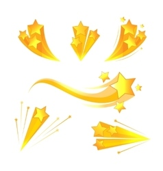 Cartoon stars burst elements vector
