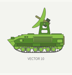 line flat color icon intelligence service vector image