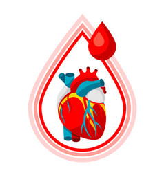 Donate blood medical and healthcare i vector