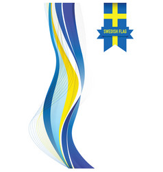 Sweden abstract flag background vector