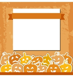 Halloween grunge background with yellow and orange vector