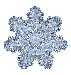 Seven-pointed snowflake pattern vector