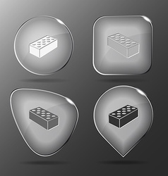 Hollow brick glass buttons vector