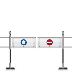 Entrance gate vector image