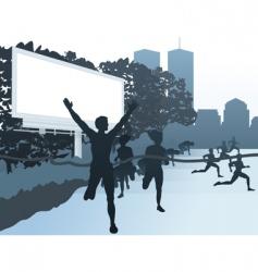 city street scene vector image