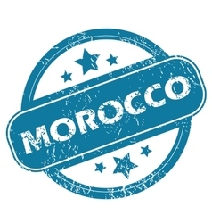 Morocco round stamp vector