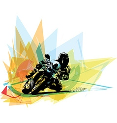 Extreme motocross racer by motorcycle vector image