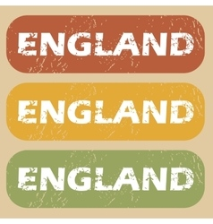Vintage england stamp set vector