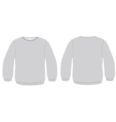 basic sweater template vector image