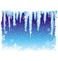 background with icicle vector image