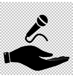 Microphone sign flat style icon vector