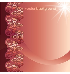 Decorative cover template eight vector