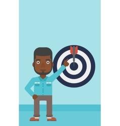 Achievement of business goal vector