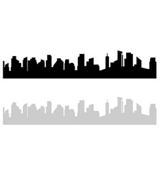 black and white cityscape modern urban view on vector image