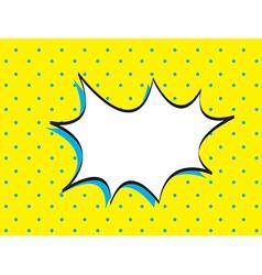 Bubble comic vector