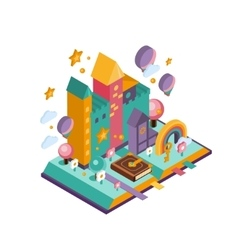Colourful Castle Isometric vector image vector image
