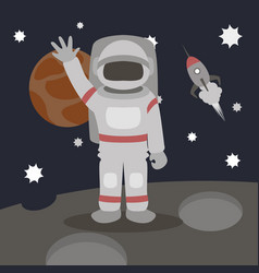 cosmonaut isolated vector image vector image