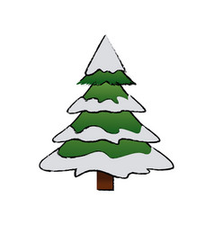 Cute pine tree christmas decoration ornament image vector