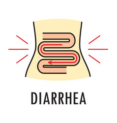 Diarrhea or food poisoning logo or icon vector