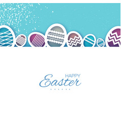 Easter eggs in paper cut style spring holidays on vector