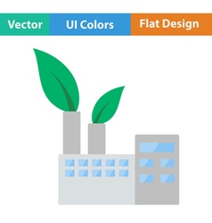 Ecological industrial plant icon vector image