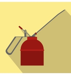 Fire extinguisher flat icon with shadow vector