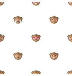 flat cartoon monkey heads with different vector image vector image