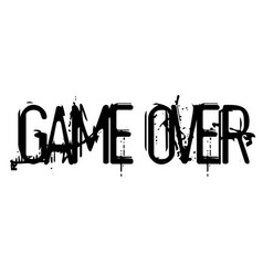 Game over stamp typographic stamp vector