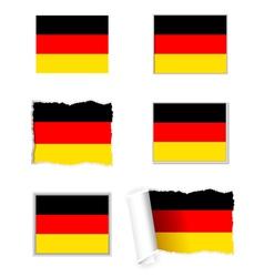 Germany flag set vector image vector image