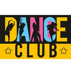 Girls dancing modern dance styles vector image vector image