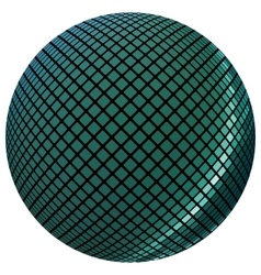 Green mosaic ball vector