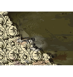 Grunge floral background vector