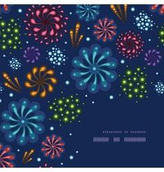 Holiday fireworks corner decor pattern background vector