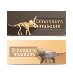 Horizontal dinosaurs museum banners vector image vector image