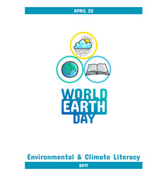 International earth day april 22 vector