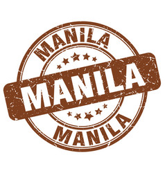 Manila stamp vector